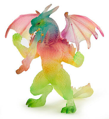 Papo 38999 Rainbow Dragon Model Gamer Role Play Figurine Toy New NIP