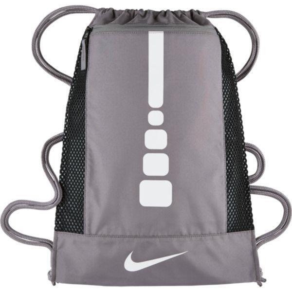 cc48356c24 Nike Hoops Elite Gymsack Gray white Drawstring Bag Backpack Gym Sack ...