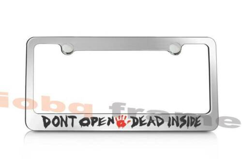 Free Caps WALKING DEAD FANS Don/'t Open Dead Inside supreme license plate frame