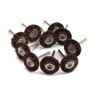 """60Pcs Cloth Nylon Wool Polishing Buffing Round Wheel Brushes 1//8/"""" Shank Set Tool"""