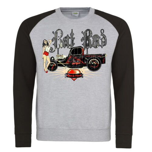 Hotrod 58 Sweatshirt Rat Rod Rust American Pick Up Truck Vintage Classic V8 Car