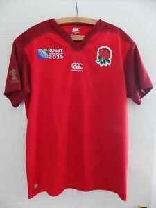 World-Cup-2015-Canterbury-England-Rugby-Union-Original-Shirt-Top-Jersey-Mens-XL