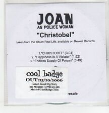 (ER704) Joan As Police Woman, Christobel - 2006 DJ CD