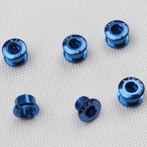 Alloy Anodised Single Crank Chain Ring Bolts Chainwheel Screws