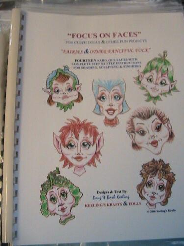 "MARAYA FAIRY /& HER CRYSTAL WINGS~BARB KEELING~10-15-18/"" 2008 cloth doll pattern"