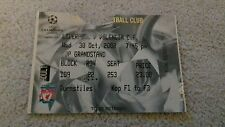 338) Liverpool v Valencia CF ticket stub champions league 30-10-2002