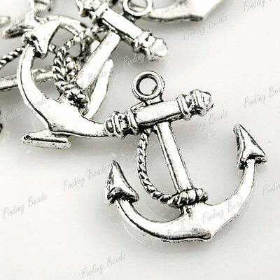 20* Tibetan Silver Anchor Charms Pendants Drops TS0046