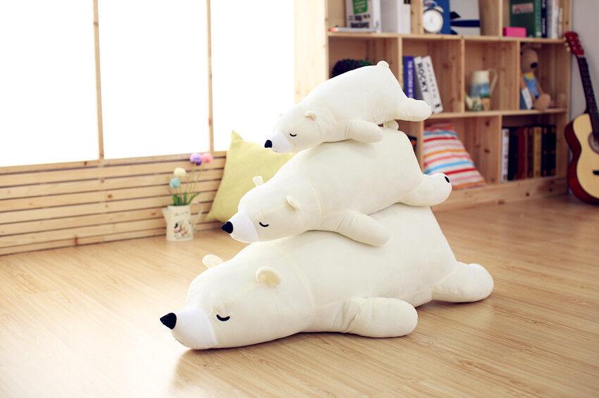 Japan Heart Polar Bear Plush Soft Animal Cartoon Doll Pillow Stuffed Toy Gift