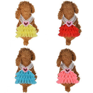 Eg-Animal-de-Compagnie-Gilet-Chiot-Chien-Chat-Jupe-Tutu-Robe-Princesse-Costume