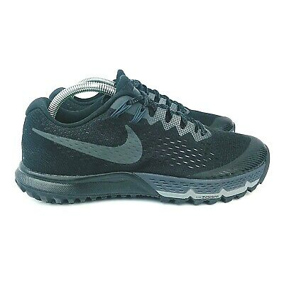 new arrival 6be73 5d3f5 Nike Air Zoom Terra Kiger 4 Triple Black 880563 010 Hiking Shoes Size 8  666032393086 | eBay