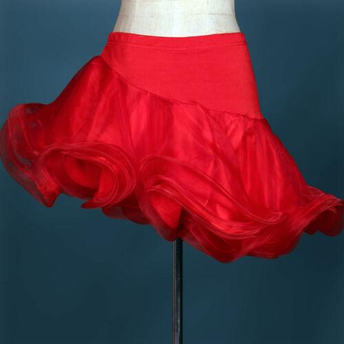 4Color Latin Dance Dress salsa tango Cha cha Ballroom Group Dance  Skirt N027