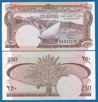 P-1b Sign 2 Yemen 250 Fils 1965 UNC