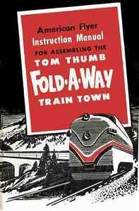 INSTRUCTION-MANUAL-American-Flyer-Tom-Thumb-Fold-Away-Layout-REPRINT