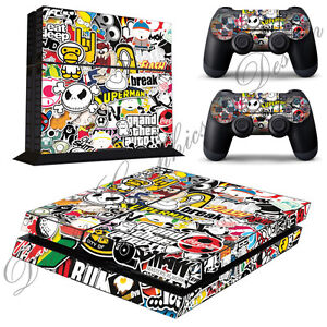 Video Games & Consoles Faceplates, Decals & Stickers 2 Controller Skins Ps4_11 Delicacies Loved By All Aspiring Sticker Bomb Style Skin Playstation 4 Ps4 Console