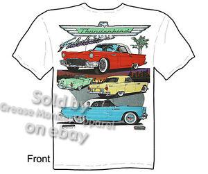 55 56 57 Ford Thunderbird T Shirt Classic Car Tee Shirts Sz L Xl