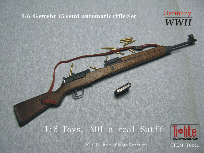 TI-LITE WWII German Gewehr 43 semi automatic Rifle 1/6