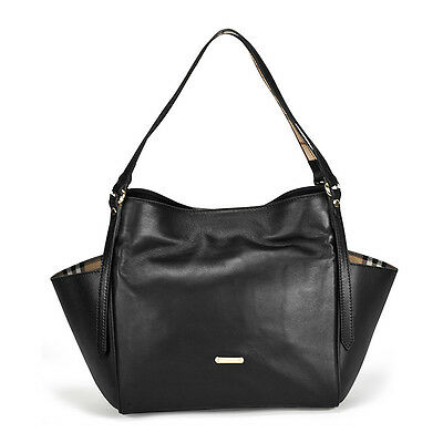 Burberry Canterbury Black Leather Tote 3887529