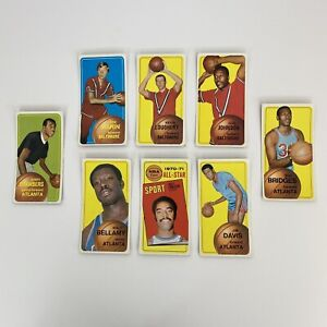 (8) 1970-71 TOPPS BASKETBALL Marin, Frazier, Bellamy, 36 92 62 51 71 18 106 54