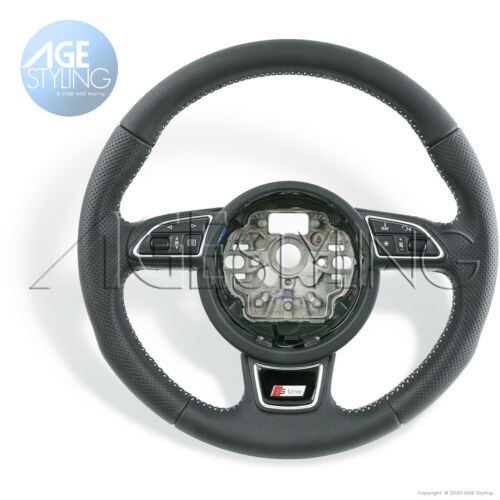 OEM AUDI A1 8X A6 A7 4G S-Line Multimedia Leather Steering Wheel 2010-/>2017
