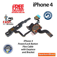Replacement On/Off Power/Lock/Button/Switch + Earpiece and Bracket For iPhone 4