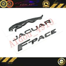 3pc Glossy Black Emblem Rear Badge Decal For Jaguar 2017 F Pace V6 R S F Pace