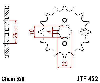 Front Sprocket JTF422 14t fits Suzuki GT185 74-79 JT