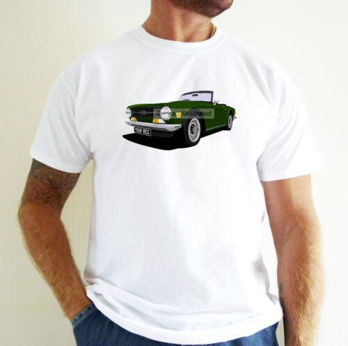 Personalise It! Triumph TR6 Voiture Art T-shirt