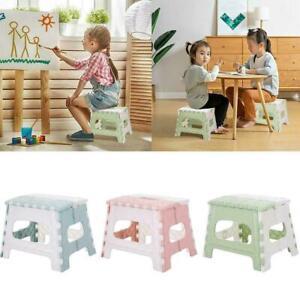 Portable-Plastic-Multi-Purpose-Folding-Step-Stool-Home-Outdoor-Storage-D2X6