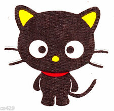 "3"" HELLO KITTY SANRIO CHOCOCAT CAT  CHARACTER FABRIC APPLIQUE IRON ON"