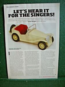 Singer article Imp Le Mans Gazelle SM SMX Roadster Dinky Bandai Lansdowne Dublo