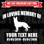 In Loving Memory Decal Custom Vinyl Graphic Personalized Sticker German Shepard