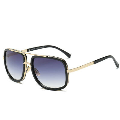 Retro Fashion Aviator Sunglasses Black White Brown Men Women Vintage Glasses