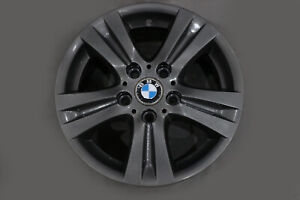 BMW-1-Series-E81-E87-Grey-Wheel-Alloy-Rim-16-034-7J-ET-44-Double-Spoke-222-6779696