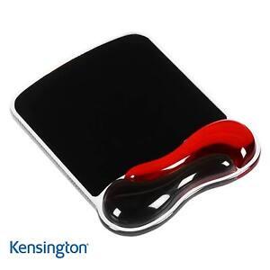 Kensington-Poggiapolsi-Mouse-Pad-Supporto-Rosso-Nero-Duo-Gel-Onda-62402
