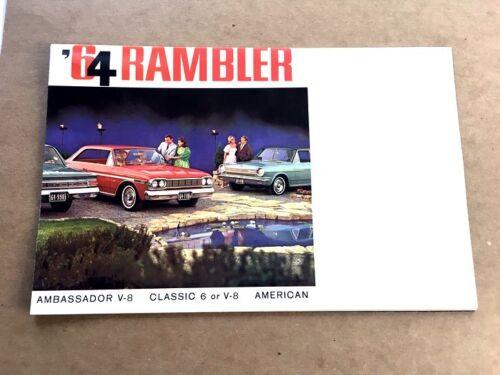 Ambassador Classic American Motors AMC 1964 Rambler Original Sales Brochure