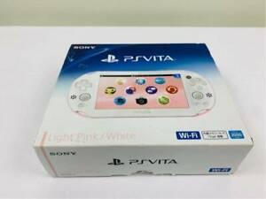 Sony-PlayStation-PS-Vita-Slim-White-Pink-Slim-PCH-2000-ZA19-From-Japan