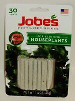 Jobe's 13-4-5 Houseplant Indoor Fertilizer Food Spikes 30 Pack x 2 60 Total Garden