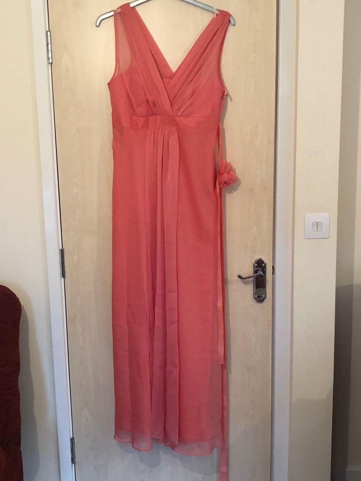 Women's dark peach dress from Debut in a size 16.