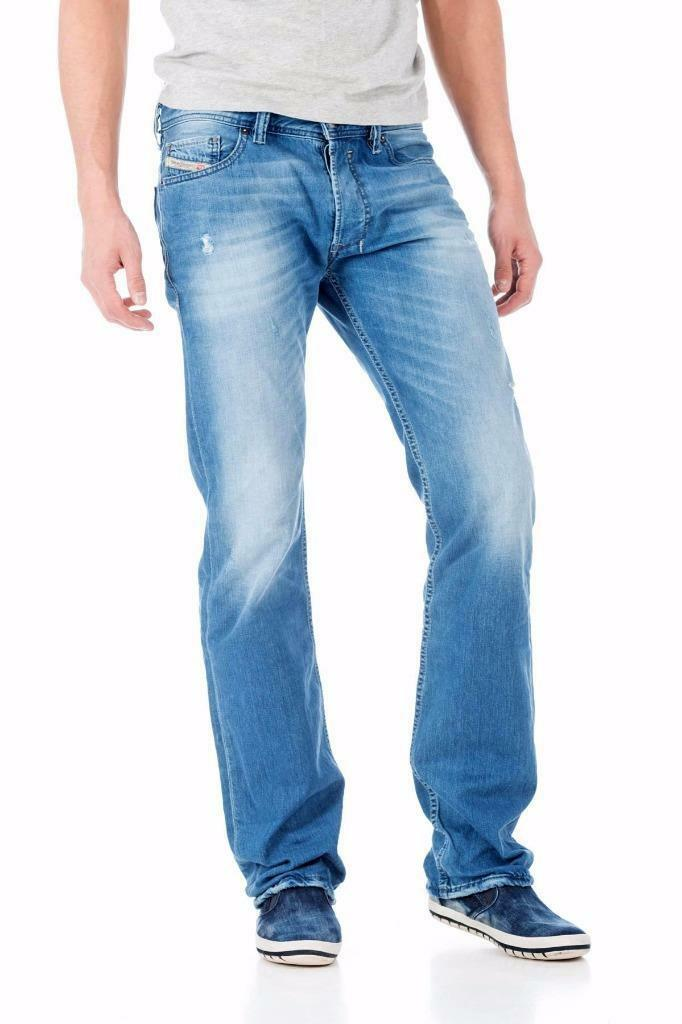 NWT DIESEL SAFADO WASH 0830W Faded Regular Slim-Straight Jeans W27 L32
