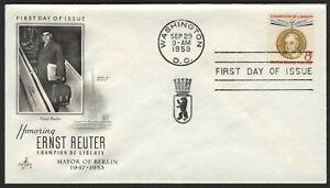 #1137 8c Ernst Reuter, Arte Artesanía (1947-1953) -añade FDC Cualquier 5=