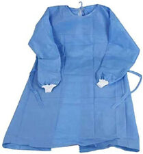 100pcs Disposable Blue Pppe Waterproof Isolation Gown With Knit Cuff Ppe Dental