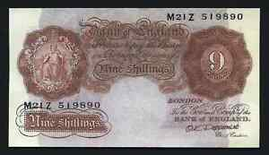 Great-Britain-BANK-OF-ENGLAND-SERIES-A-Nine-Shillings-Banknote-O-K-Peppermint-9
