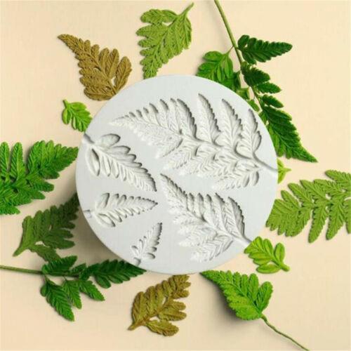 Fern Leaf Silicone Cake Decor Fondant Sugarcraft Mould Chocolate Baking Mold Hot