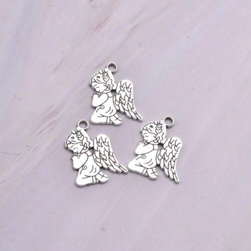 10X Tibetan Silver deux côtés Angel Baby Charm Pendentif Pour À faire soi-même Boucles d/'oreilles//Bracelet