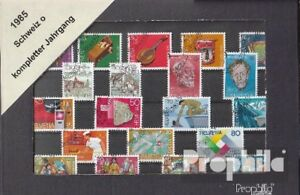 Schweiz-gestempelt-1985-kompletter-Jahrgang-in-sauberer-Erhaltung