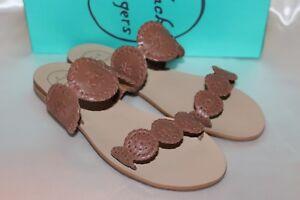 NEW-NIB-JACK-ROGERS-Cognac-Leather-LAUREN-Slide-Sandals-Sz-8-9-9-5-10-128