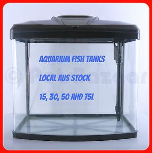 Glass fish tank 15l 30l 50l 75l curved aquarium pump for Aquarium 50l