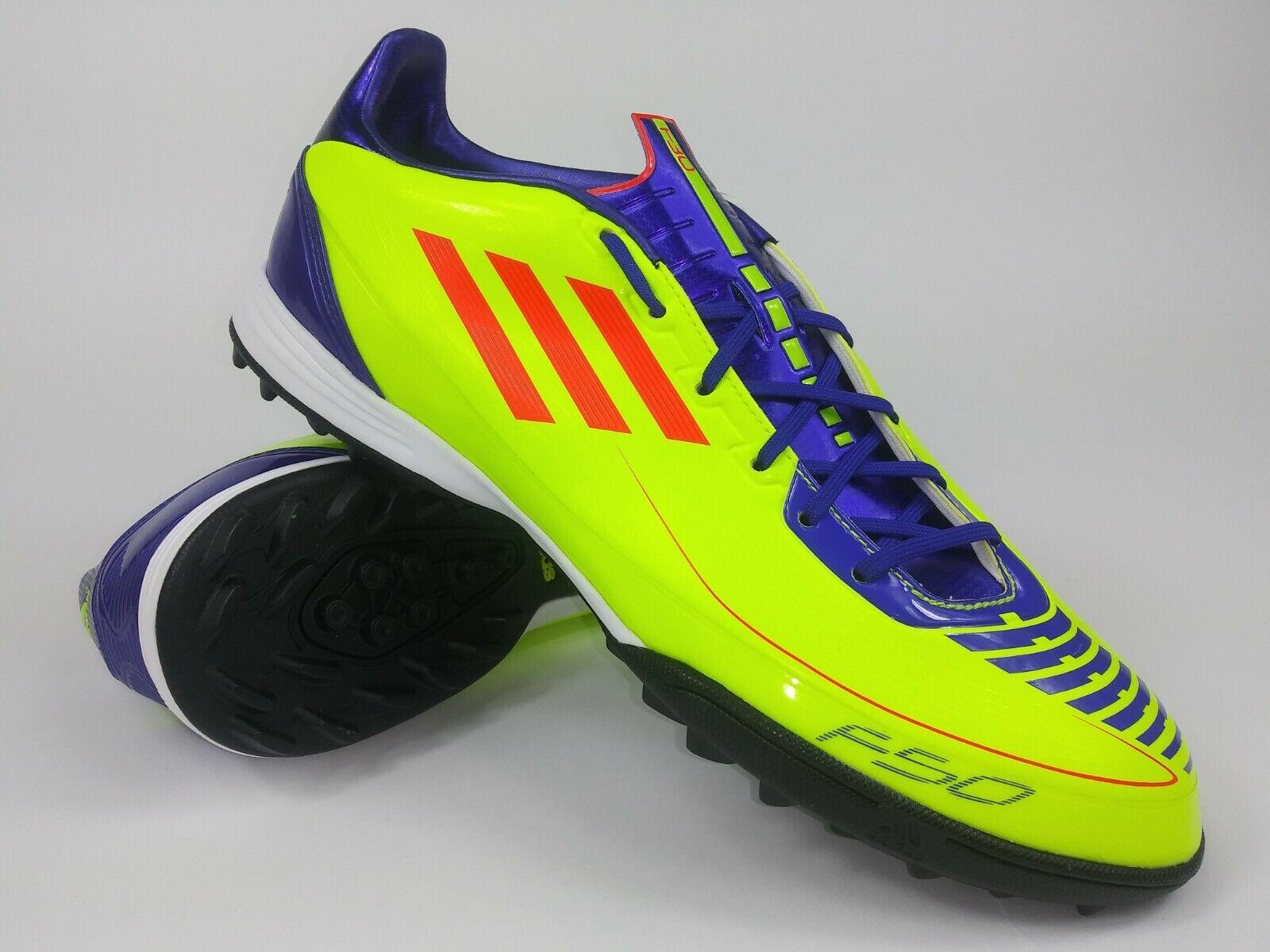 Adidas de Hombre Raro F30 TRX Tf Turf G40302 Amarillo Morado Soccer Zapatos