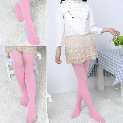 Kids Baby Girl Pantyhose Velvet Tights Toddler Soft Elastic Warm Stockings Socks