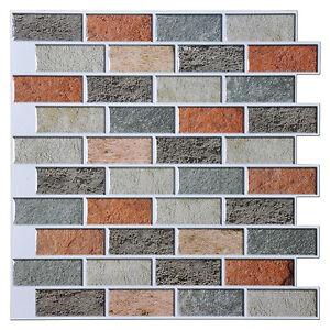 Pack Of 1 Peel And Stick Backsplash Tile 12 Quot X12 Quot Brick